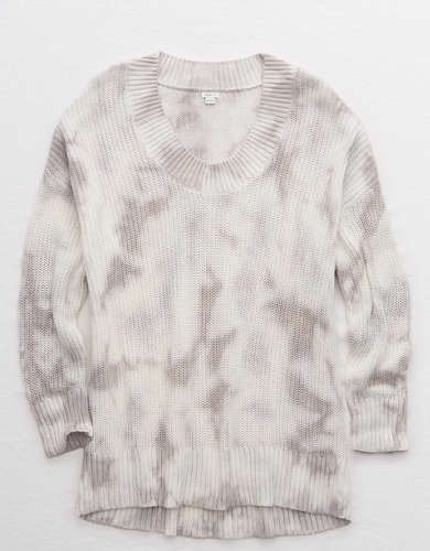Aerie Open Knit Oversized Sweater
