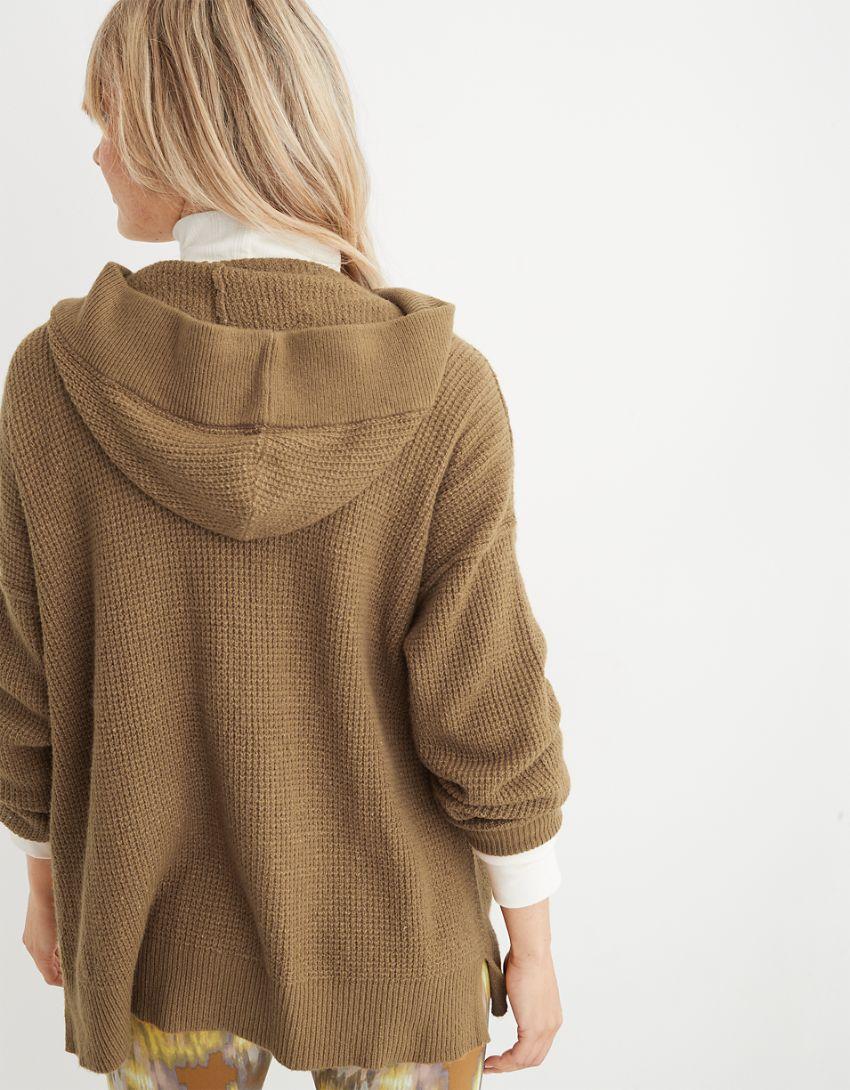Aerie CozyUp Waffle Sweater Hoodie
