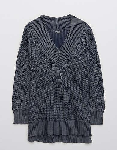 Cвитер-пуловер оверсайз с широким V-образным вырезом Aerie
