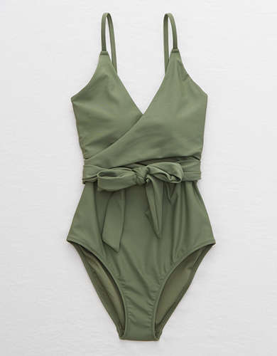 Aerie Wrap One Piece Swimsuit