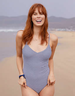 Shoptagr Aerie Strappy Back One Piece Swimsuit By American Eagle