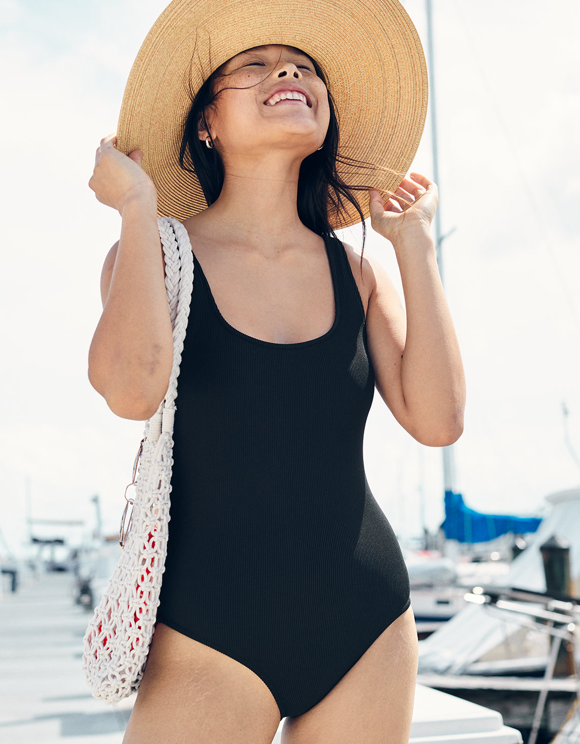 Aerie Ribbed Scoop One Piece Swimsuit