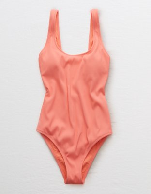 9f229f1e55f97 This review is fromAerie Ribbed Scoop One Piece Swimsuit.