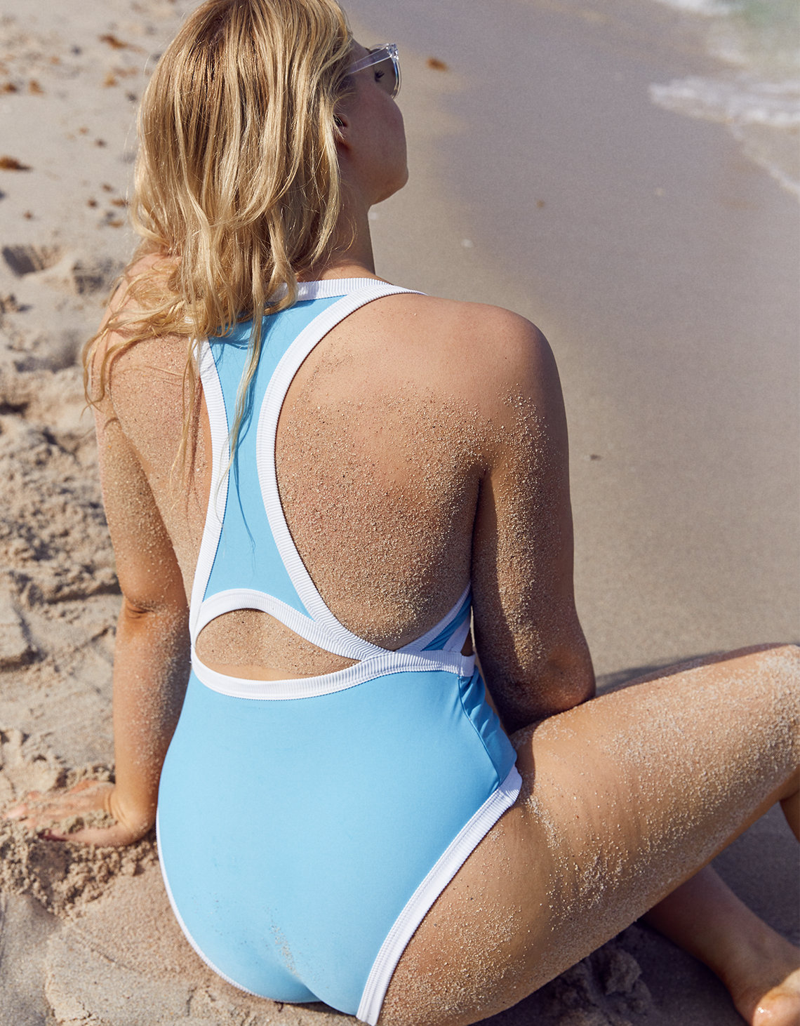 Aerie Pop Cut Out One Piece Swimsuit