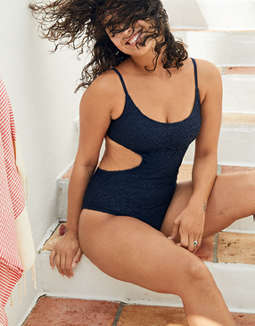 Aerie Crochet Scoop One Piece Swimsuit