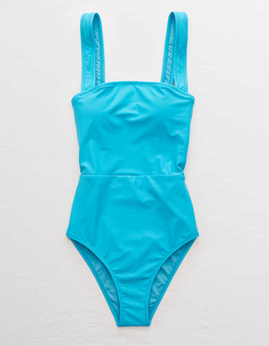 Aerie Bandeau One Piece Swimsuit