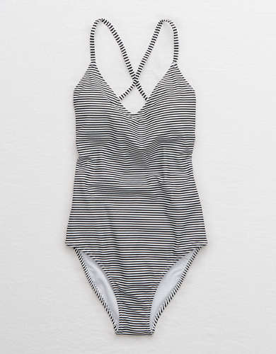 Aerie Strappy Back One Piece Swimsuit