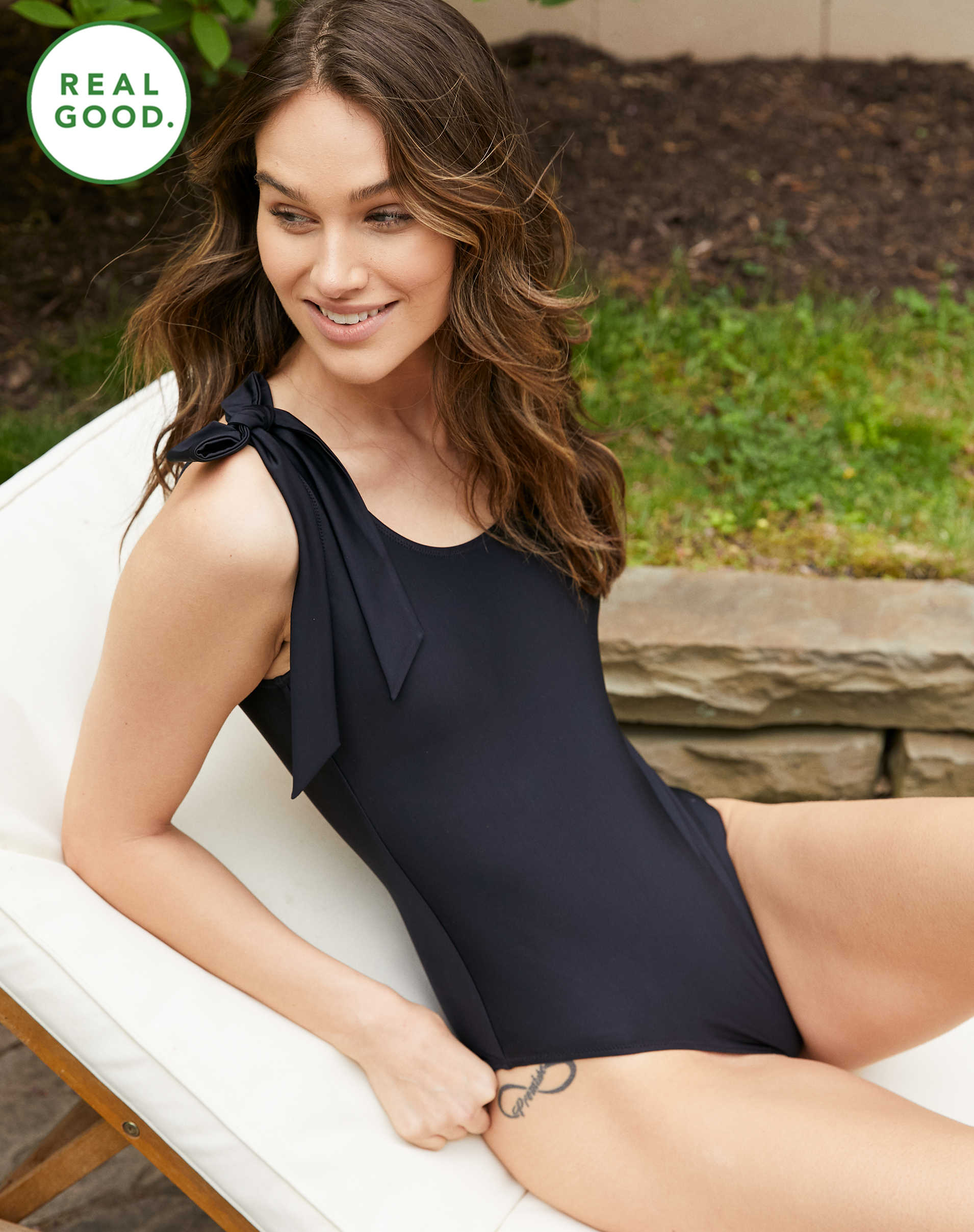 Aerie Bow One Piece Swimsuit