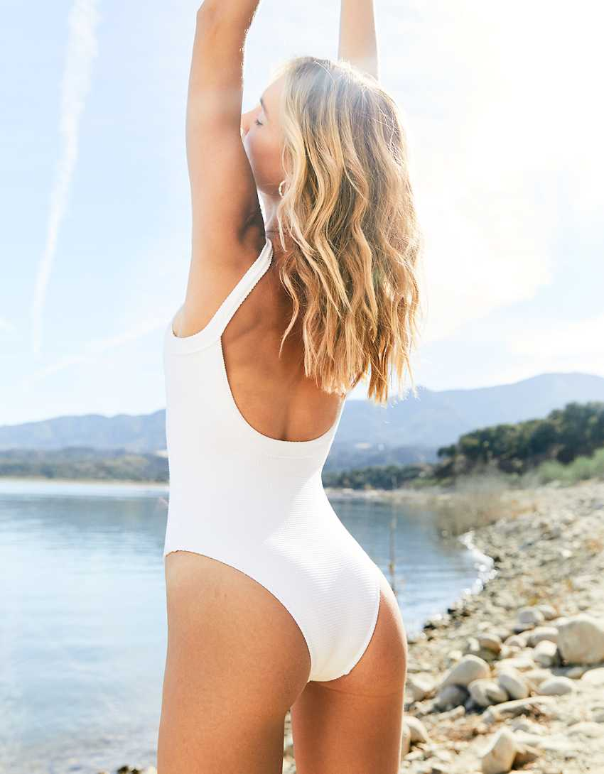 Aerie Waffle Scoop One Piece Swimsuit