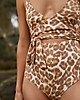 Aerie Leopard Wrap One Piece Swimsuit