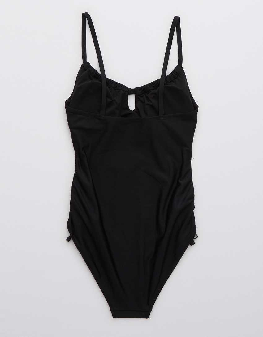 Aerie Ruched Keyhole One Piece Swimsuit