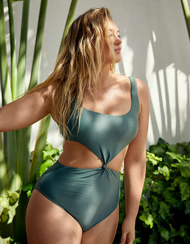 Aerie Cutout Ring One Piece Swimsuit