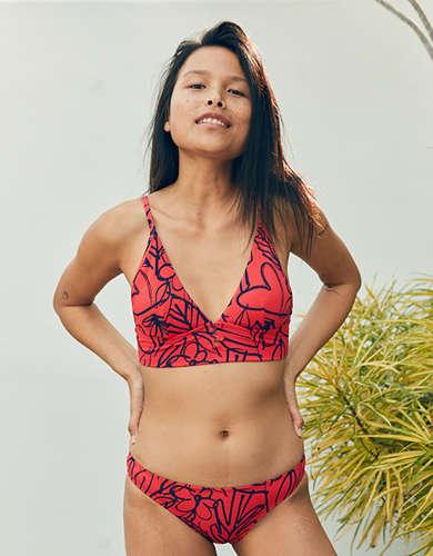 Aerie Pique Longline Triangle Bikini Top dfc58347eee