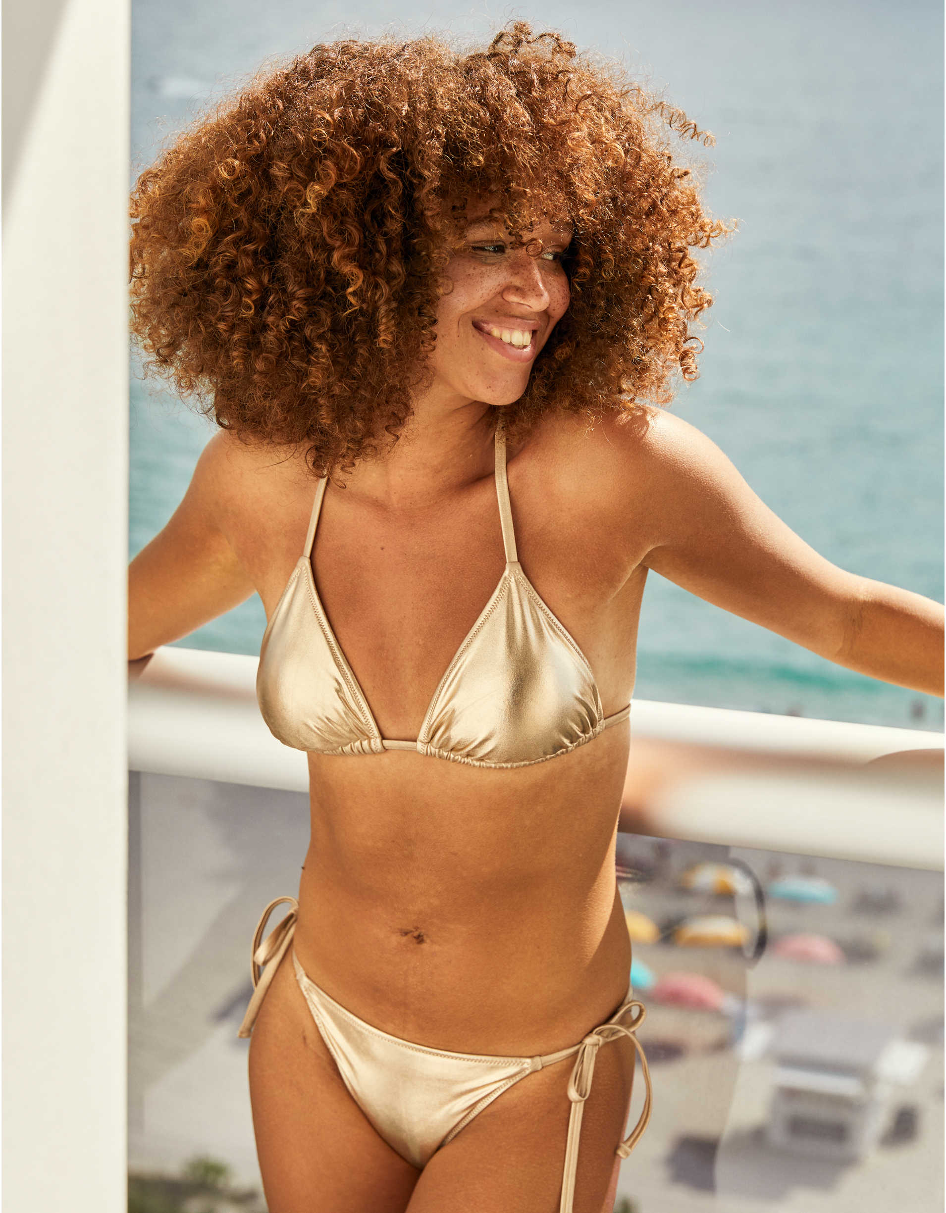 Aerie Shine Triangle Bikini Top
