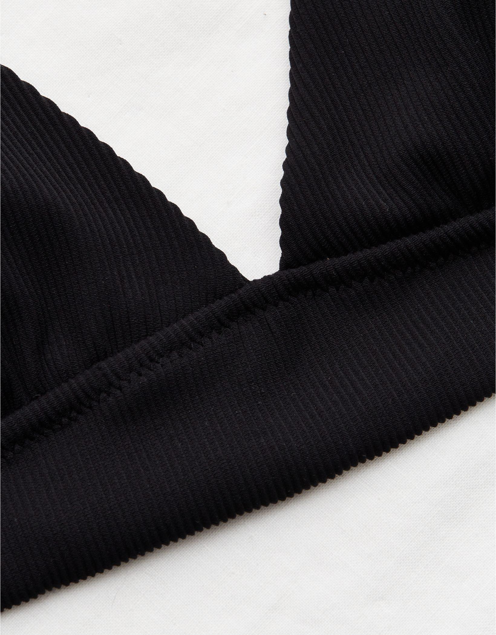 Aerie Ribbed Tie Longline Triangle Bikini Top