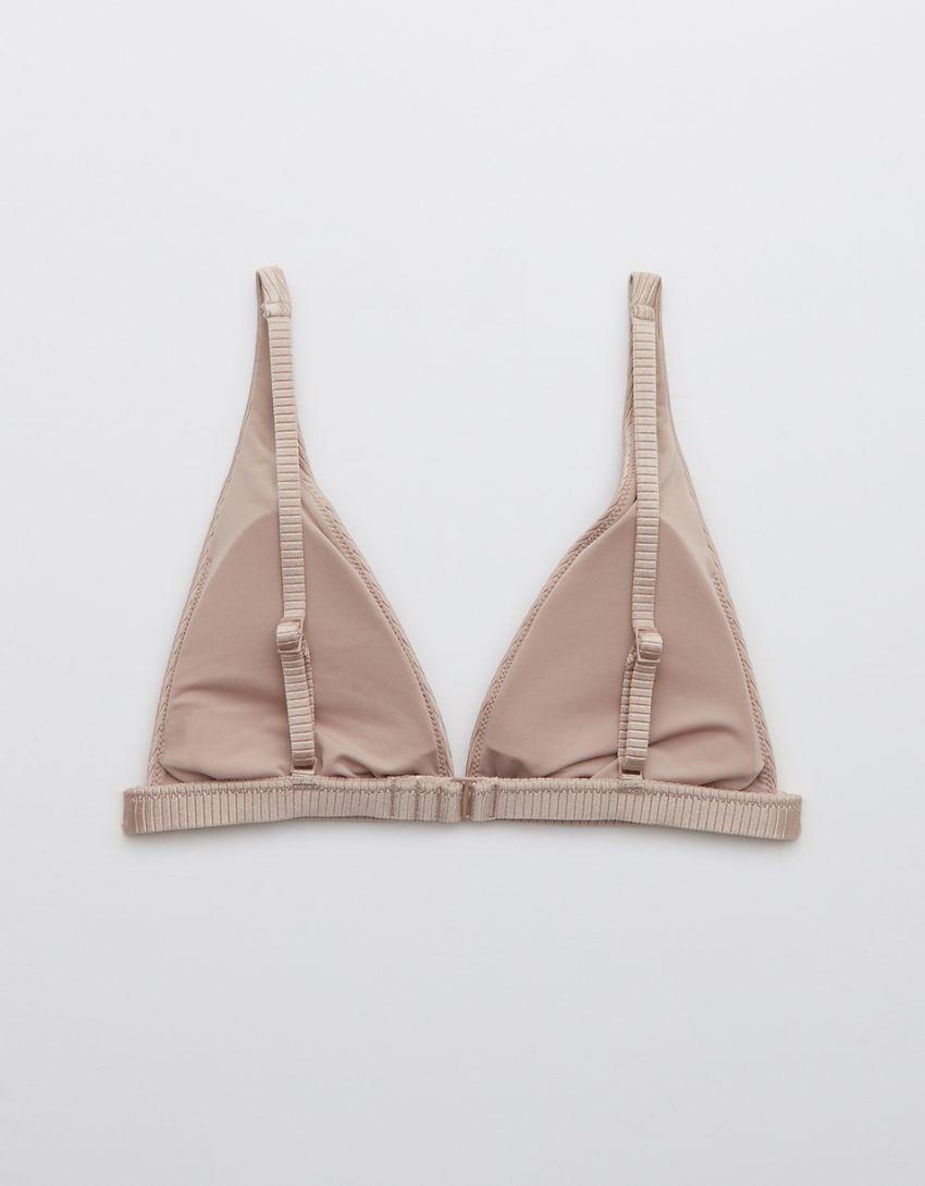 Aerie Ribbed Shine Plunge Bikini Top