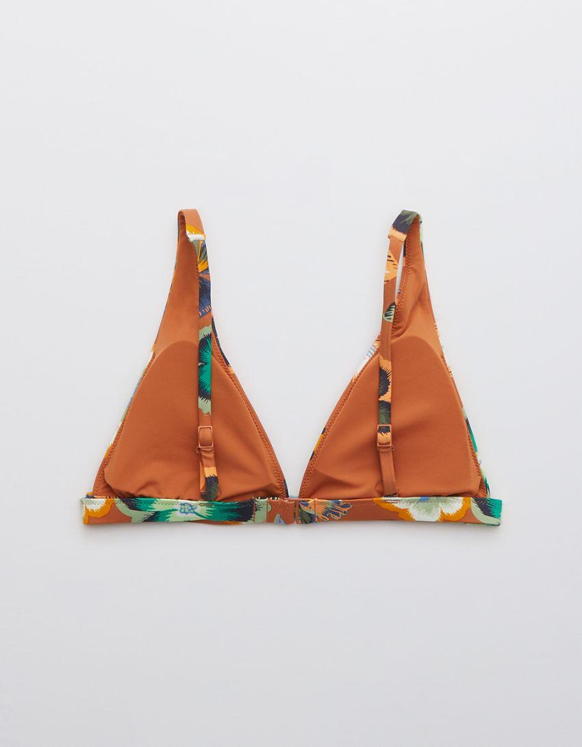Aerie Printed Plunge Bikini Top