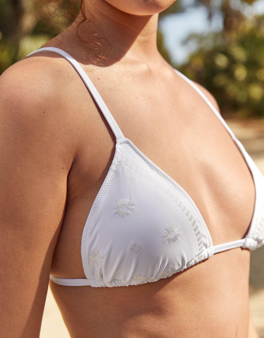 Aerie Embroidered Triangle Bikini Top