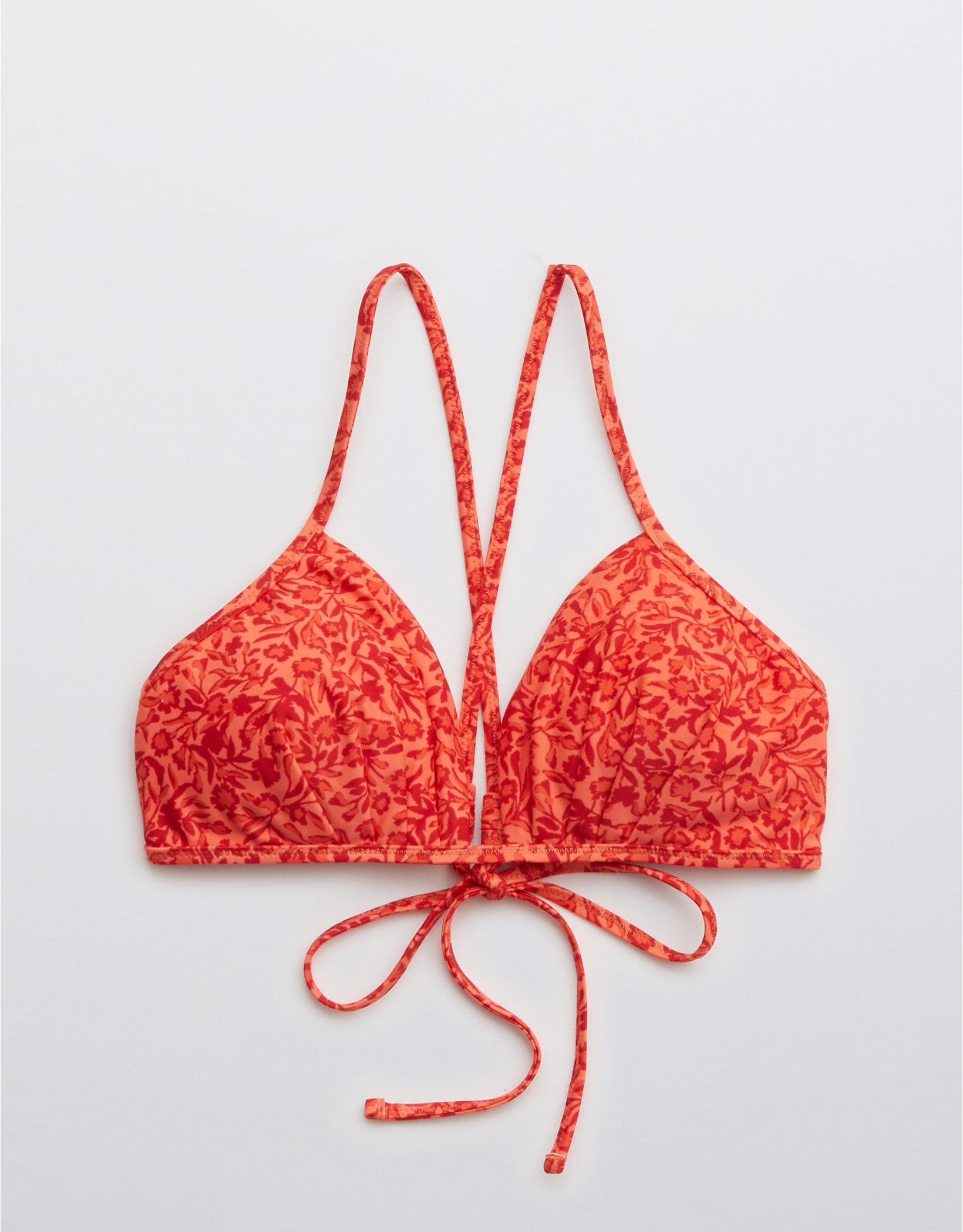 Aerie Pleated Triangle Bikini Top
