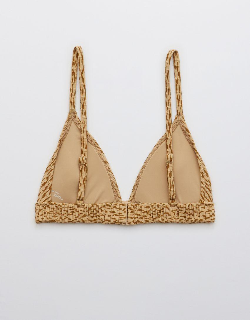 Aerie Jacquard Scrunchie Triangle Bikini Top