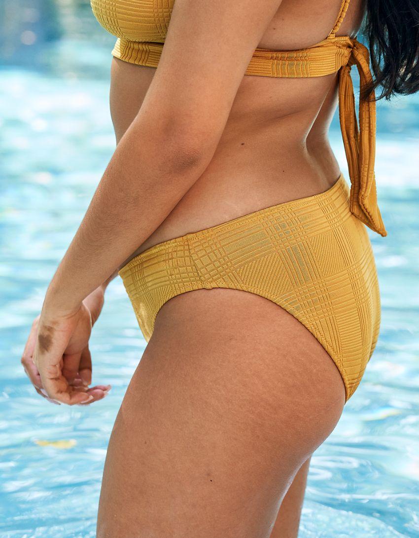Aerie Jacquard Tie Longline Triangle Bikini Top