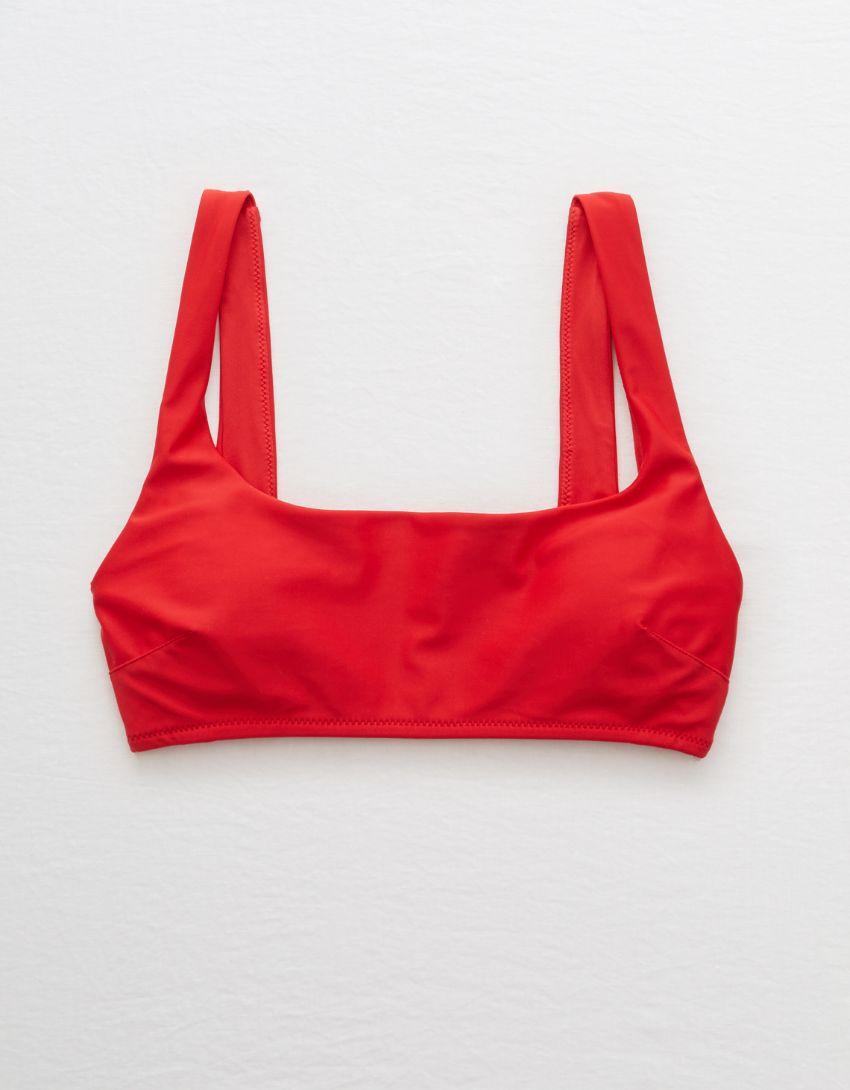 Aerie Wide Strap Scoop Bikini Top