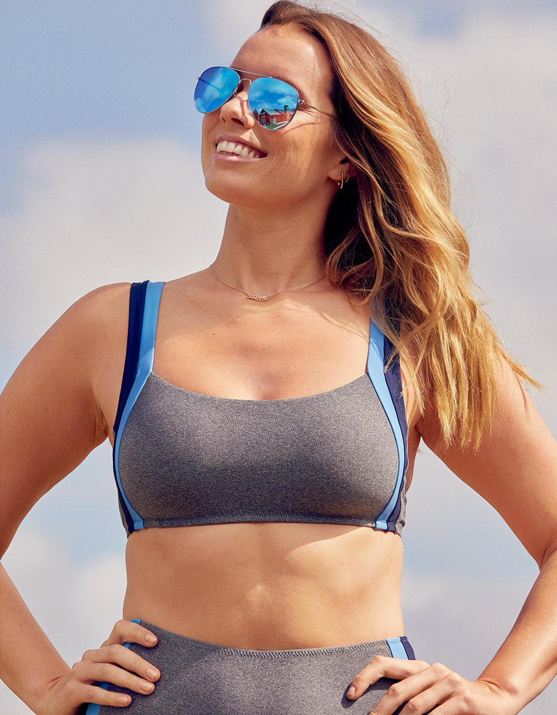 d8c0f377becf1 Aerie Track Scoop Bikini Top, Heather Gray | Aerie for American Eagle