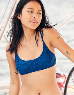 Aerie Crochet Scoop Bikini Top