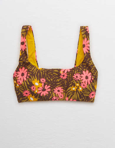 Aerie Wide Strap Scoop Bikini Top