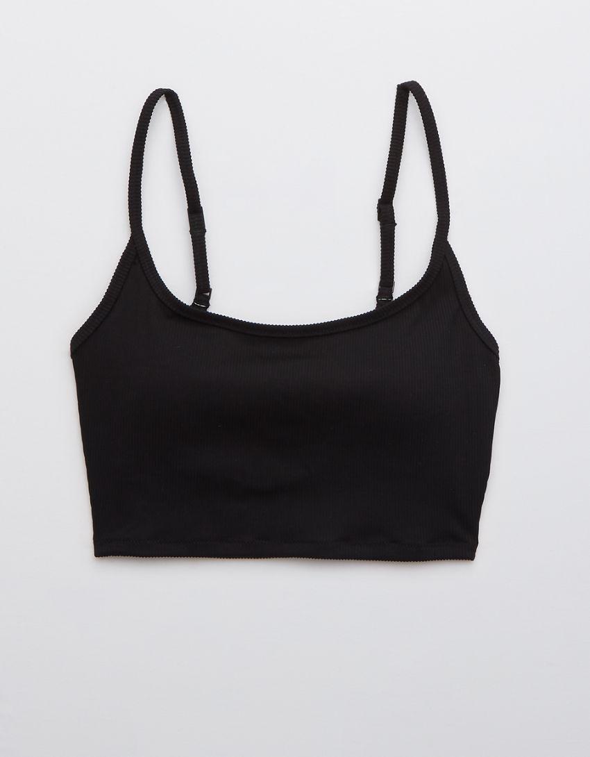 Aerie Ribbed Longline Scoop Bikini Top