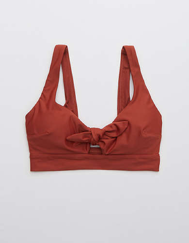 Aerie Tie Banded Wide Strap Scoop Bikini Top