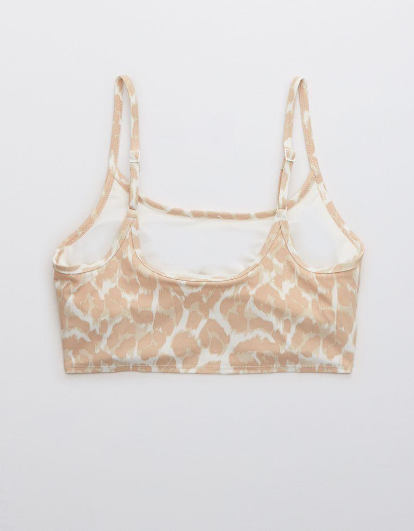 Aerie Leopard Longline Scoop Bikini Top