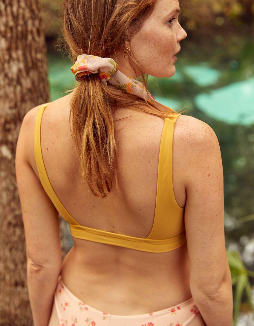 Aerie Banded Wide Strap Scoop Bikini Top