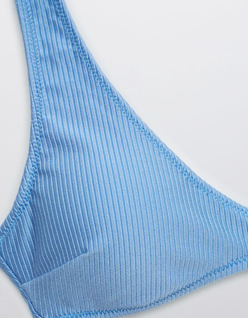 Aerie Ribbed Shine Scoop Plunge Bikini Top