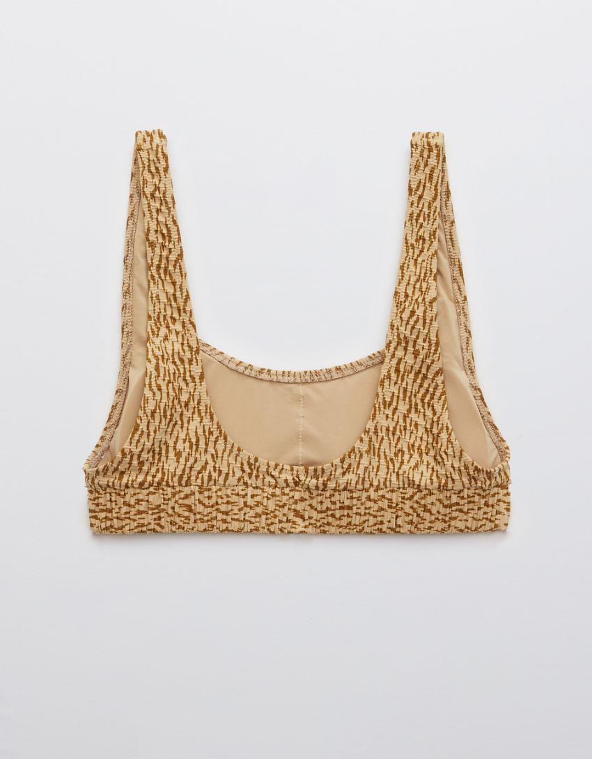 Aerie Jacquard Scrunchie Scoop Bikini Top
