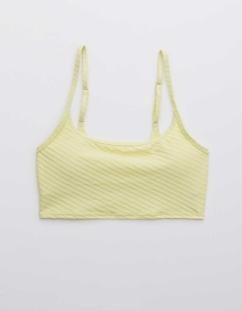 Aerie Jacquard Longline Scoop Bikini Top