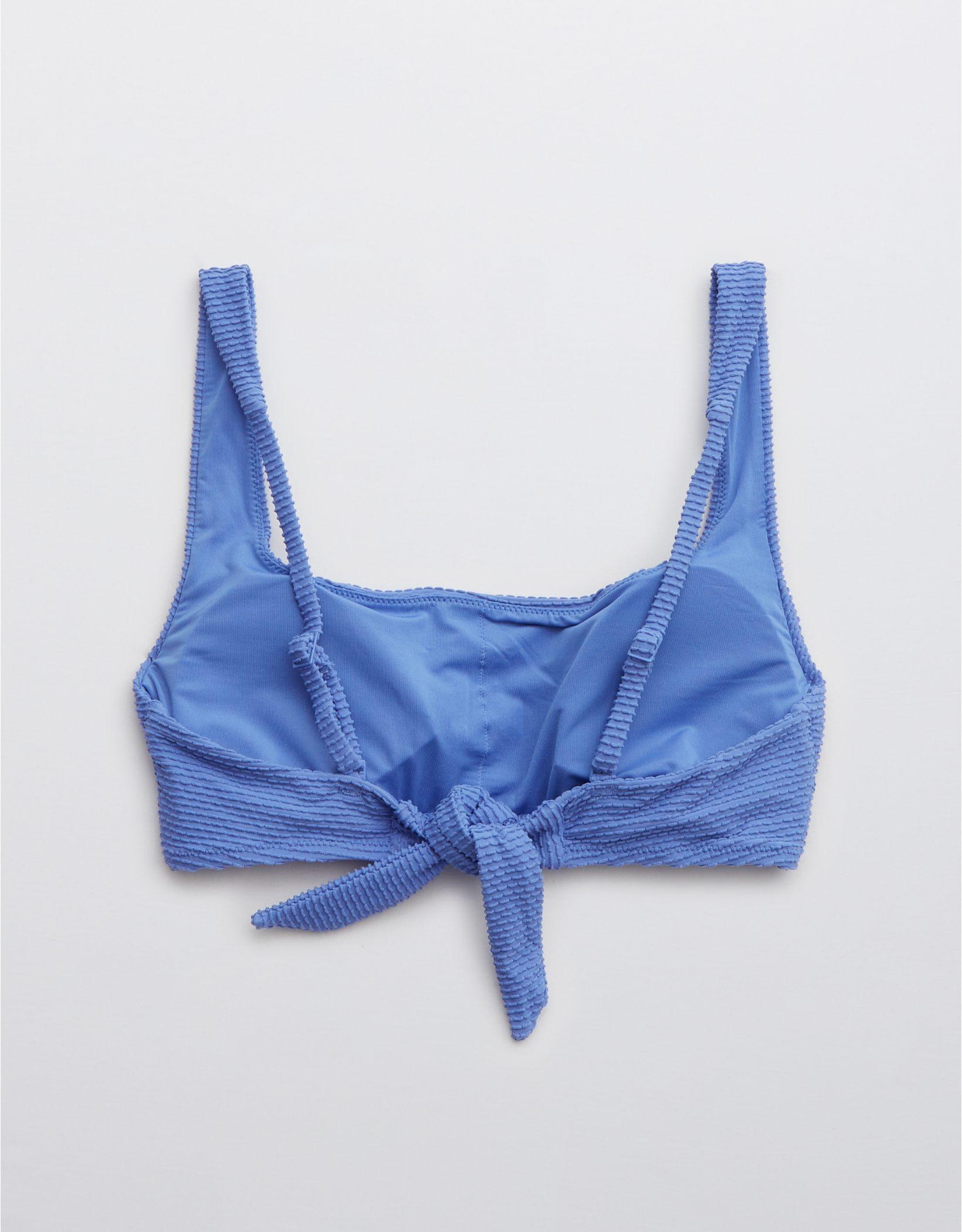 Aerie Textured Tie Back Scoop Bikini Top