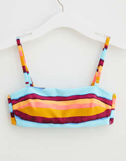 Aerie Striped Bandeau Bikini Top