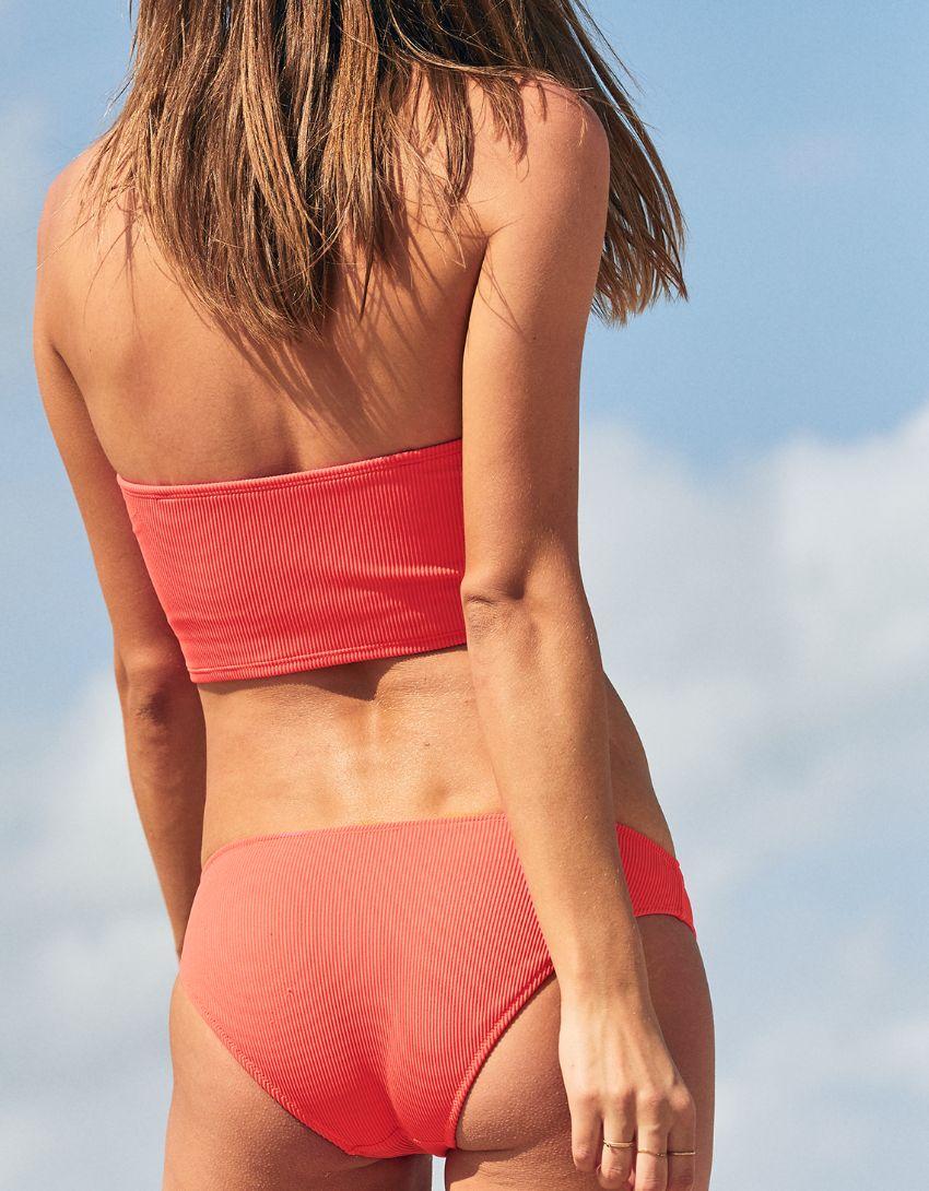 Aerie Ribbed Longline Bandeau Bikini Top