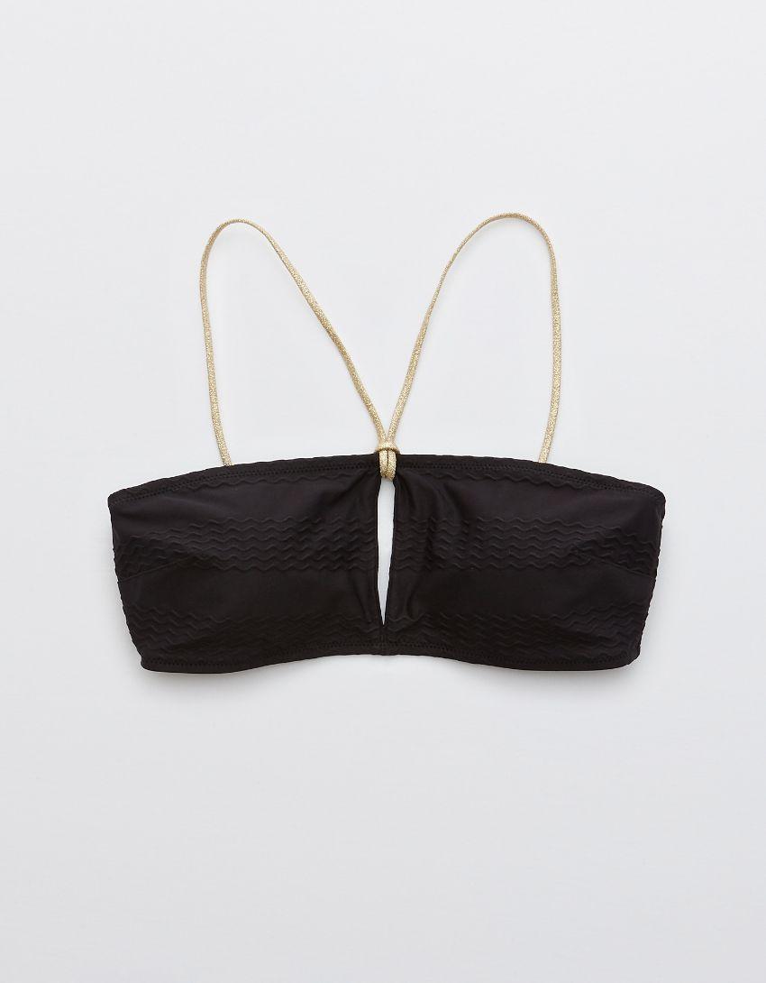 Aerie Jacquard Keyhole Bandeau Bikini Top