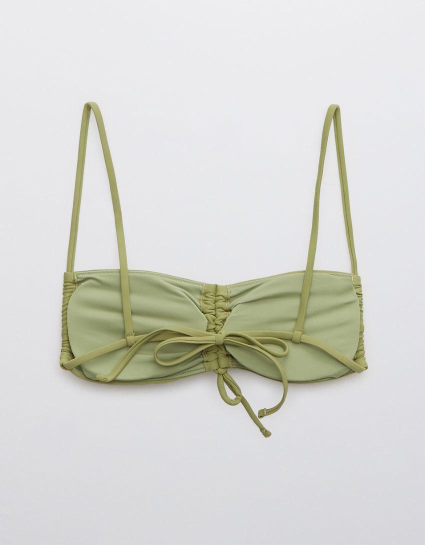 Aerie Ruched Bandeau Bikini Top
