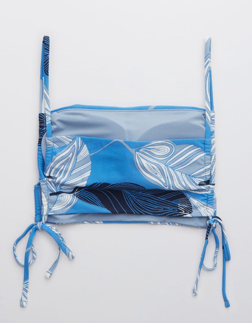 Aerie Lace Up Longline Bandeau Bikini Top
