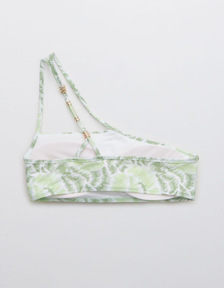 Aerie Printed One Shoulder Bikini Top