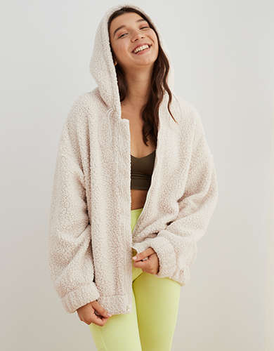 Aerie Oversized Cloud Sherpa Jacket