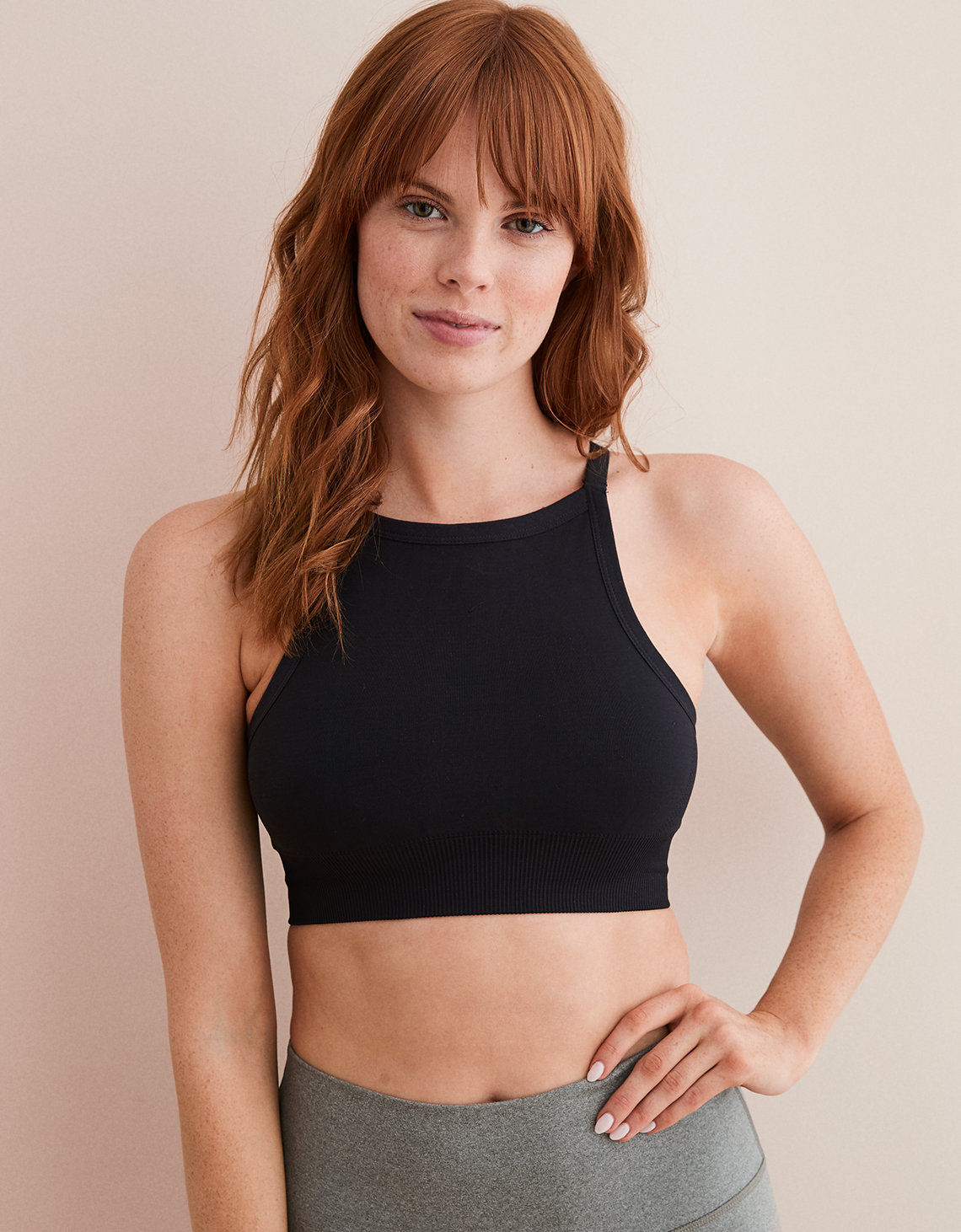 Aerie Play Seamless High Neck Bralette