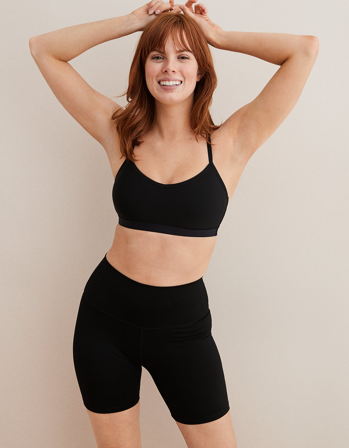 Aerie Play Padded Sports Bra Black Aerie For American Eagle