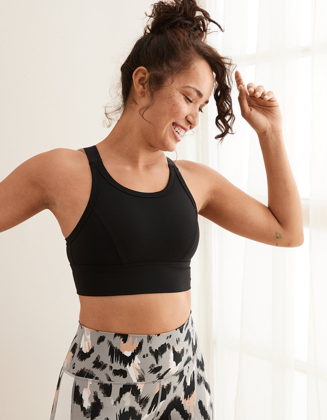 e3bea85c646 Aerie Play High Neck Sports Bra. Placeholder image. Product Image