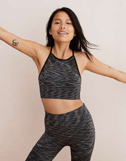 Aerie Seamless High Neck Sports Bra