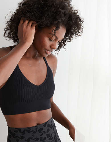 Aerie Chill Seamless Strappy Padded Bralette