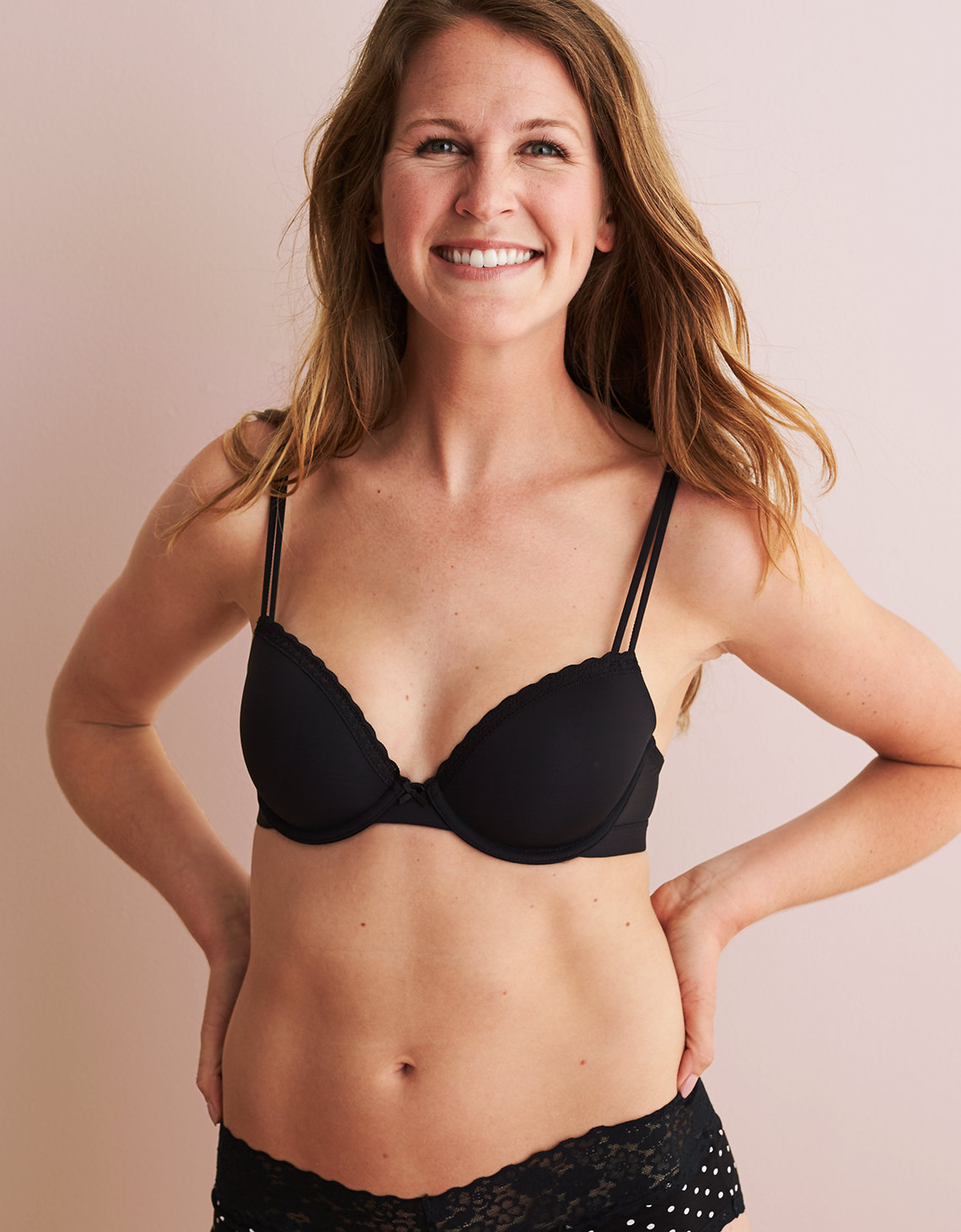 9cd1d36f86ed7 Aerie Real Happy Demi Lightly Lined Bra. Placeholder image. Product Image